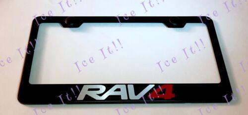 RAV 4 Stainless Steel RAV4 Black License Plate Frame Rust Free Caps