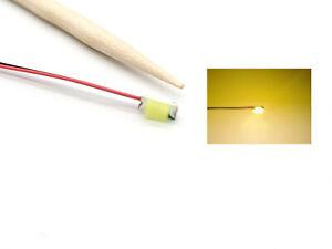 10 Stück SMD LED 1206 grün mit 30cm Microlitze Miniatur LEDs mit Kabel #A9