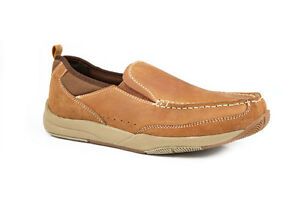 ROPER-Men-039-s-Casual-Slip-on-Shoes-Tan-20661018-New