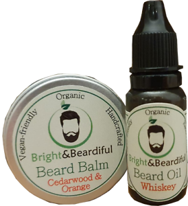Beard-Balm-30ml-amp-Beard-Oil-15ml-Conditioning-Styling-Taming-Soften-amp-Growth