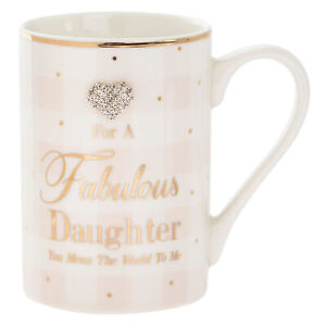 Mad-Dots-Gift-Boxed-Checked-Mug-Cup-with-wording-and-diamante-heart-Daughter