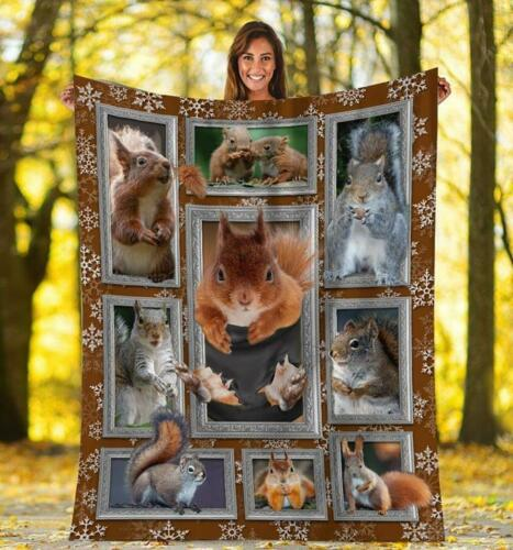 Squirrel Faces Squirrel 3D Squirrel In Pocket Fleece Blanket 50x60x80 Made In US