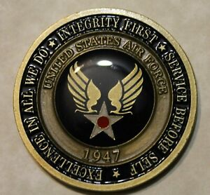 AUTHENTIC Air Force Basic Training Becoming An Airman USAF BMT Challenge Coin