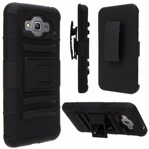 For-Samsung-Smart-Phones-Case-Cover-Defender-Armor-Box-Belt-Clip-Holster-Black