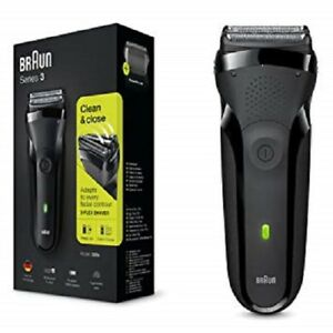 Braun-Series-3-300s-Men-039-s-Electric-Shaver-Rechargeable-Electric-Razor-Black-NEW