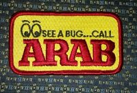 Arab (pest Control) Iron Or Sew-on Patch 3.5x2