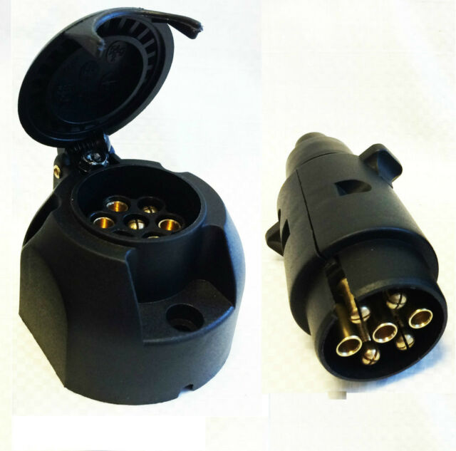 New 7 pin Plug /& Socket Trailer Car Caravan Wiring Lights Tow 12v Plastic 12N