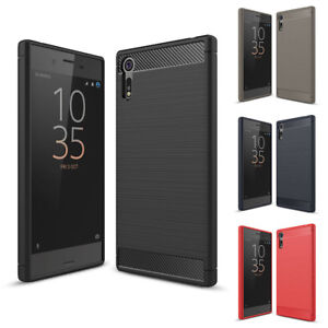 For-Sony-Xperia-XZ-XZs-Case-Shockproof-Carbon-Fiber-Slim-Soft-TPU-Cover