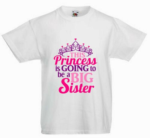 THIS PRINCESS IS GONNA BE A BIG SISTER CHILDRENS PERSONALISED T SHIRT*