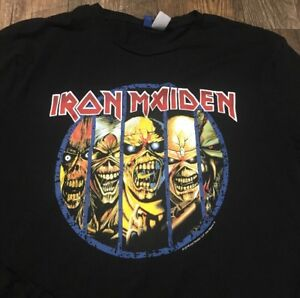Iron-Maiden-Mens-Long-Sleeve-T-Shirt-Medium-100-Cotton-Black