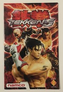 Namco Sony Ps2 Playstation 2 Tekken 5 Instruction Manual Booklet