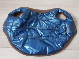 Hundemantel-Pretty-Pet-Farbe-blau-metallic-Gr-M-NEU