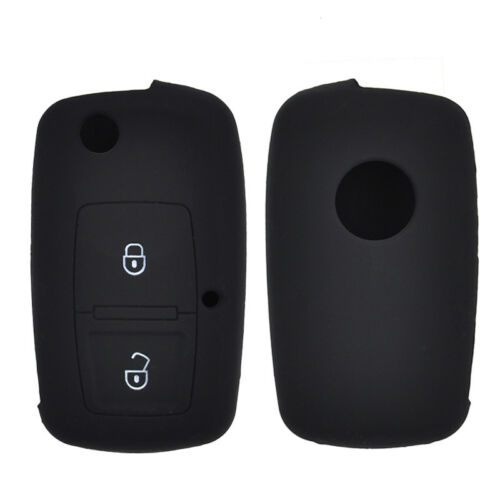 2 Button Silicone Car Key Cover Case For VW SKODA SEAT Remote Fob Protector