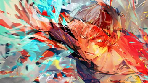 Anime My Hero Academia Shouto Todoroki Silk Poster Wallpaper 24 X 13 inch