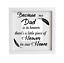 mum nan grandad etc Is In Heaven Vinyl Decal//Sticker frame Because my dad