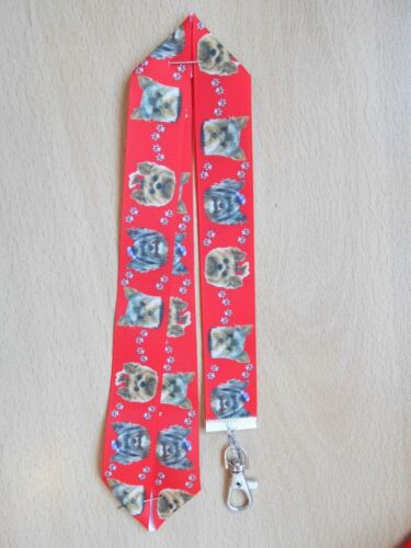 Handmade Yorkshire Terrier Dog Lanyard Whistle Walking Training Yorkie Puppy Red