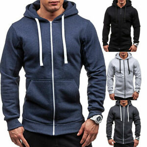 Men-039-s-Warm-Hoodie-Hooded-Sweatshirt-Coat-Jacket-Outwear-Jumper-Winter-Sweater-B