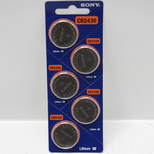 Pilas de botón x 5 - SONY - CR2430 3V Litio