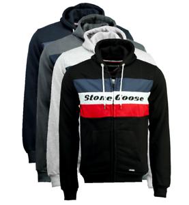 Felpa-Stone-Goose-Fagoose-Uomo-Men-Full-Zip-sweatshirt-cappuccio-hood-manica-lun