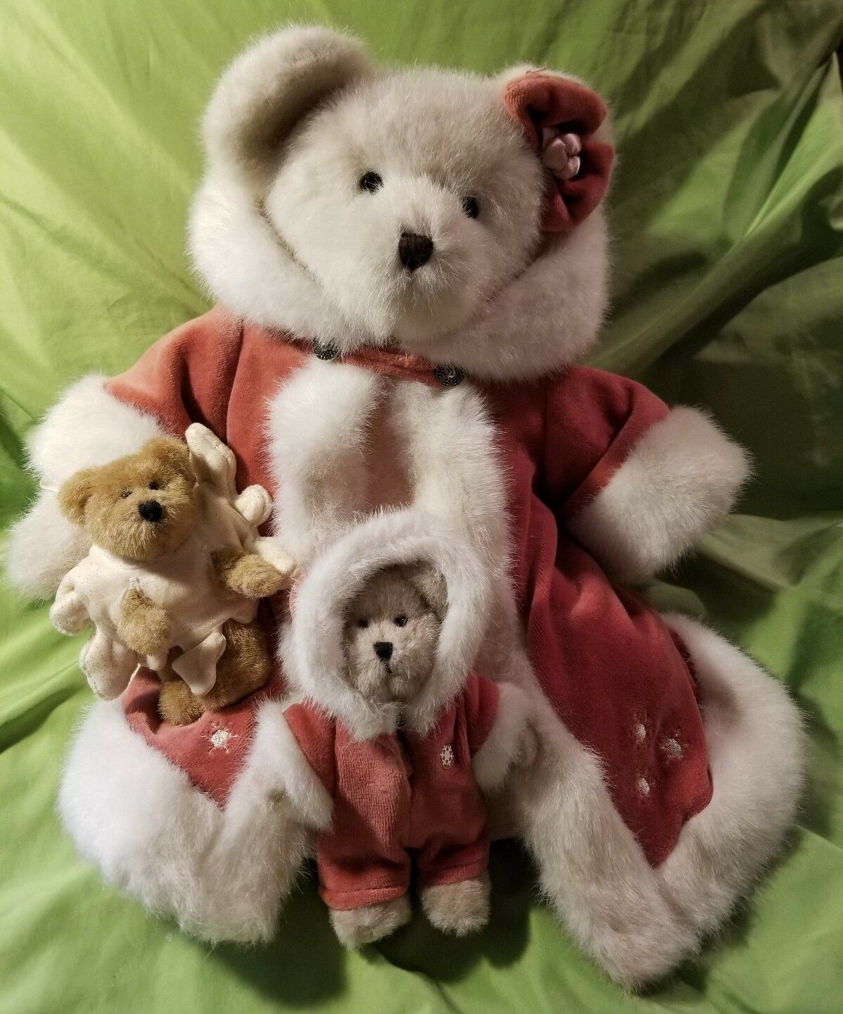Boyds Bears Genevieve Frostbeary Blizz & Maddie Bearstone  99950V QVC Exclusive