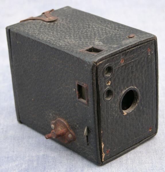 1910 S Antique Canadian Kodak Nº 0 Brownie Box Camera With Original Sac, Pour Dis Grande Vente De Liquidation