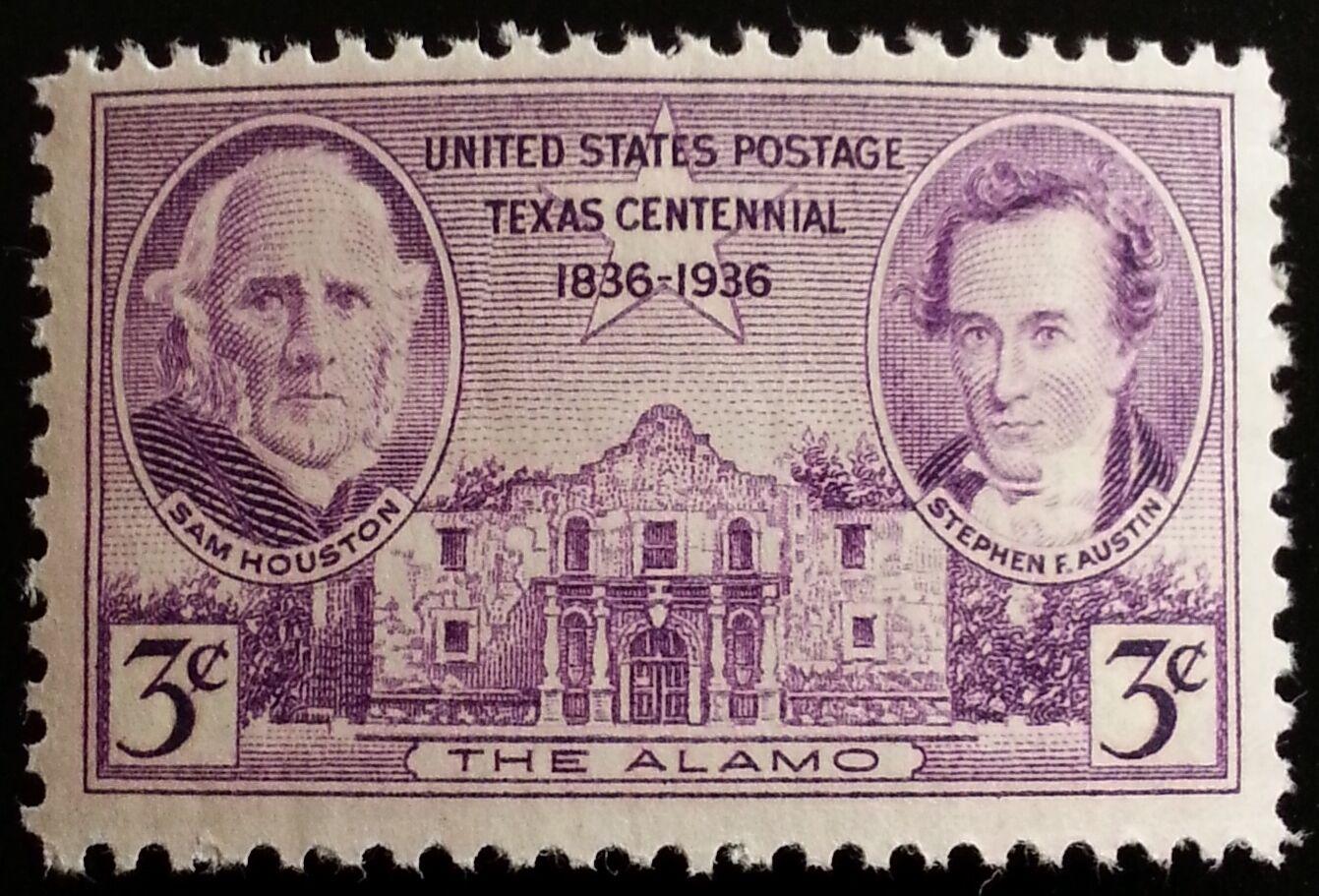 1936 3c Texas Independence Centennial, The Alamo Scott