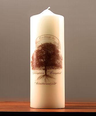 Family Oak Tree Personalized Unity Candle Ceremony Wedding Candles 68180029747 Ebay