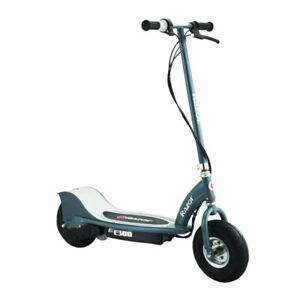 Razor-E300-Electric-24-Volt-Motorized-Rechargeable-Ride-On-Kids-Scooter-Gray