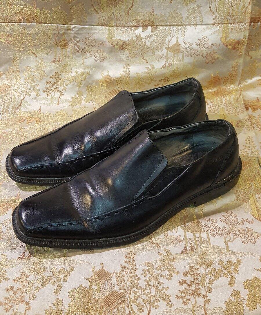 Stacy Adams, Templin Black 24246-001 Men's slip-on Loafers Black Templin Shoes Size 10.5M 134444