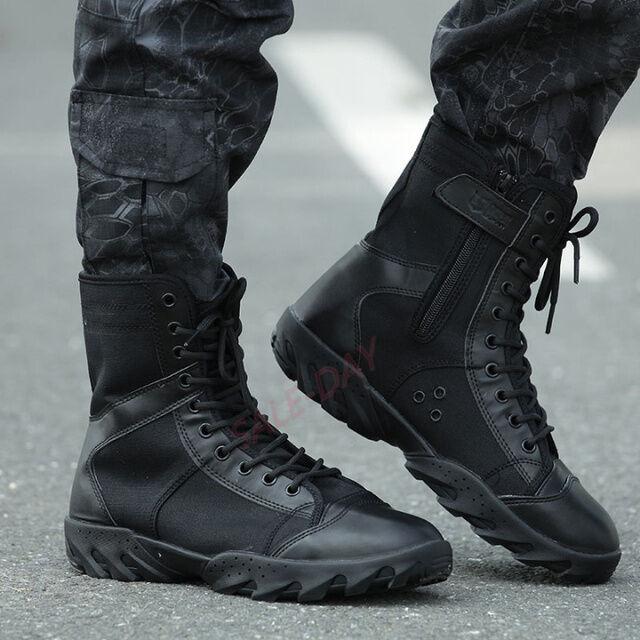 Mens High Top Military Tactical Outdoor Camping Climbing Hiking Combat Boots