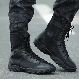Image is loading Mens-High-Top-Military-Tactical-Outdoor-Camping-Climbing- 1130e6236