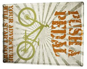 Blechschild XXL Nostalgie Fahrrad