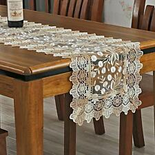 """Embroidered Organza Floral Lace Table Runner Dresser Scarf 16""""x 72"""""""