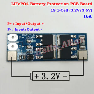 1S 12A 3.2V 3.6V LiFePo4 18650 Battery Charger Protection Circuit PCB Board PCM