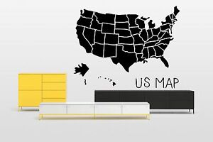 image is loading world map usa planet silhouette wall vinyl sticker