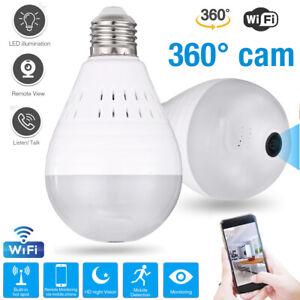 Mini-Security-IP-Camera-360-Panoramic-SPY-Hidden-Wifi-Wireless-Light-Bulb-1080P