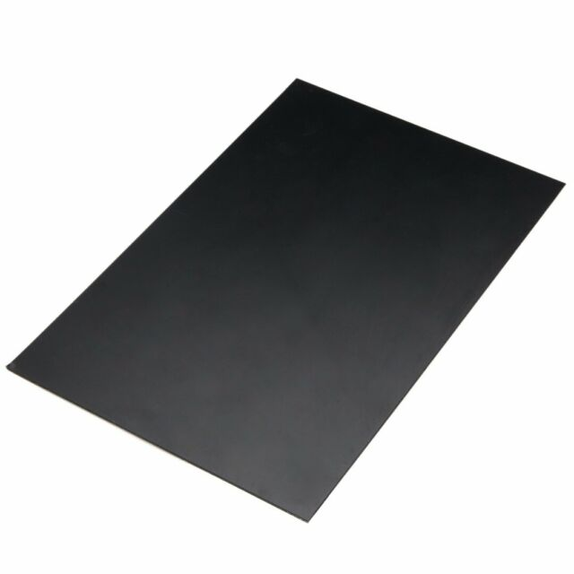 1 Pc Abs Styrene Plastic Flat Sheet Plate 1mm X 200mm X 300mm Durable Black For Sale Online Ebay