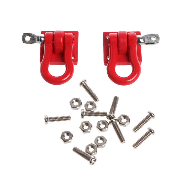 1 Pair 1:10 Scale Hook Shackles for RC SCX-10 Crawler Truck Accessories Red OF