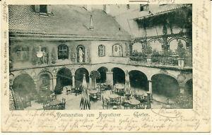 AK München, Restaurant zum Augustiner, Garten, datiert 1900; gel. am 27.8.1900