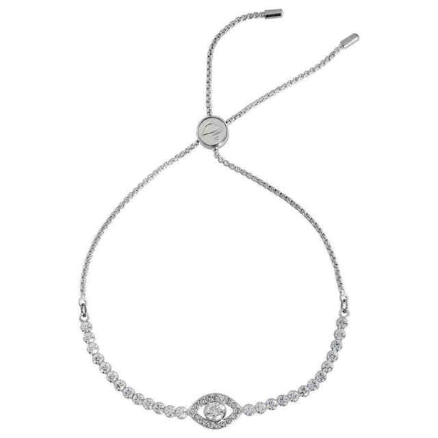 bebc5375378 Swarovski Crystal Subtle Evil Eye Bracelet White Rhodium Plating 5368546