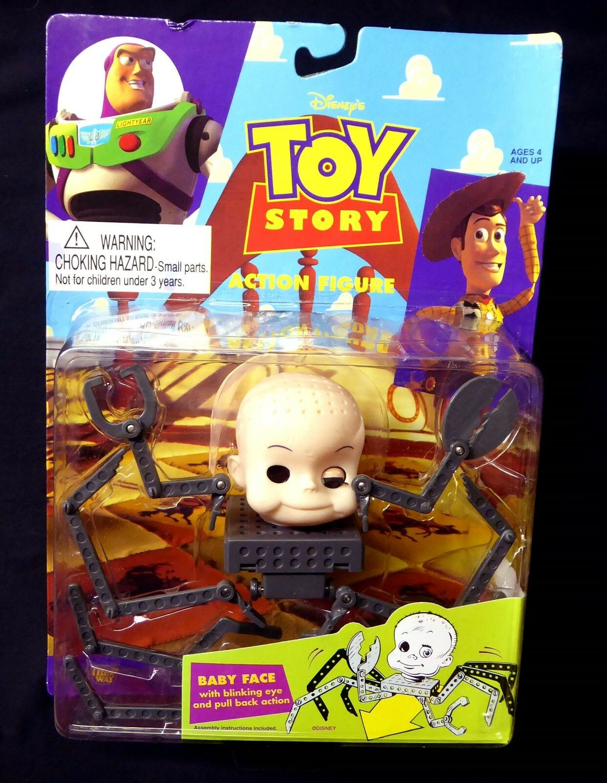 Baby Face with Blinking Eye Toy Story Movie Action Figure  Thinkway 1995 Amricon