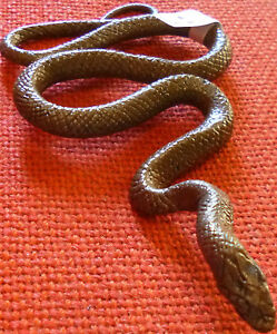 AUSTRALIAN-ANIMAL-Souvenir-BROWN-SNAKE-REPLICA-Size-14cm-Long