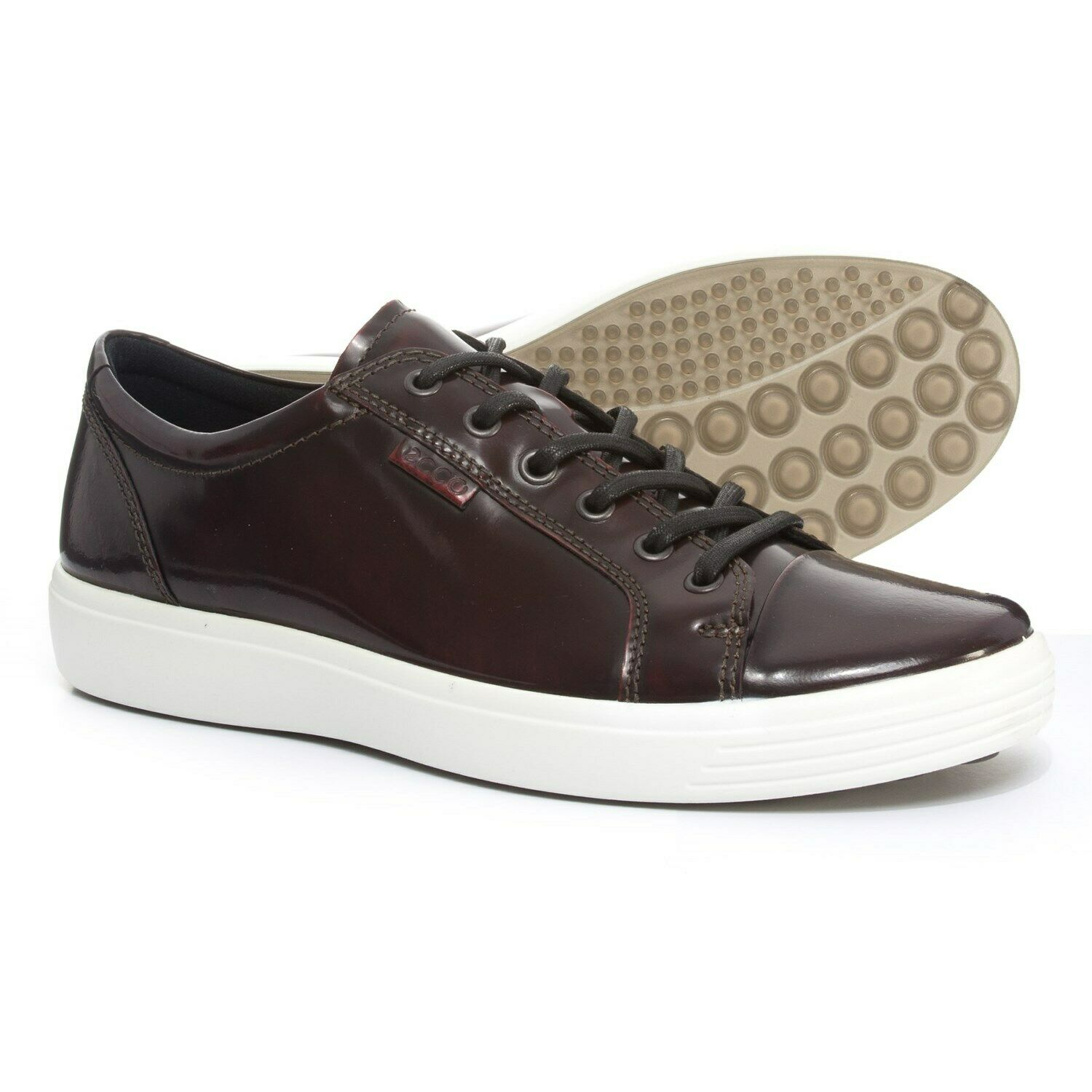 New Men`s ECCO Soft 7 Sneakers Leather Shoes 430424 01070