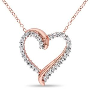 Pink-Sterling-Silver-3-4-ct-TGW-White-Sapphire-Heart-Pendant-Necklace-18-034