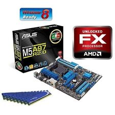 NEW AMD FX-6300 Six Core X6 CPU ASUS MOTHERBOARD 8GB DDR3 1600 MHz RAM COMBO KIT