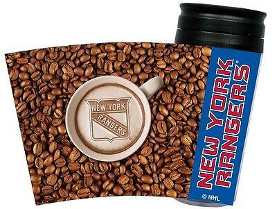 NEW YORK RANGERS LATTEAM COFFEE ART 16oz TRAVEL TUMBLER
