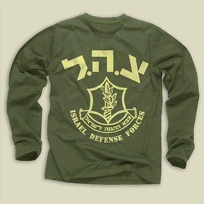 IDF-Israel Defense Forces Sw-Cotton Blend,Green,Long Sleeve,S,M,L,XL,2XL,3XL