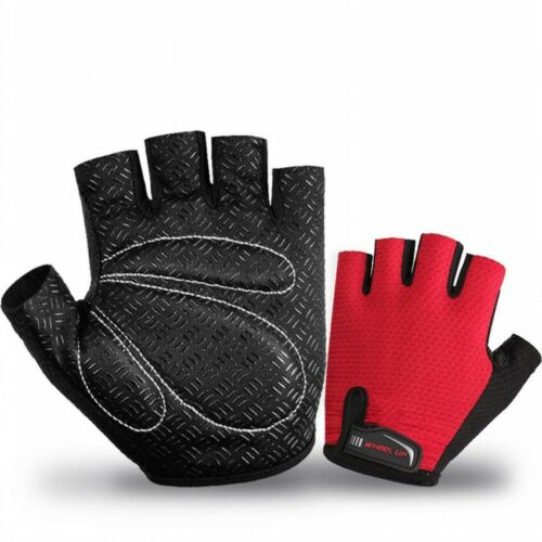 Men Women Cycling Gloves Breathable Bike Half Finger Bicycle Fingerless Mitts UK