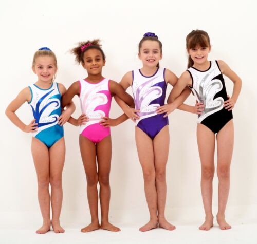 'Peta' girls gymnastics leotard AcroAcrobatics Age 518 26,28,30,32,34,36,38