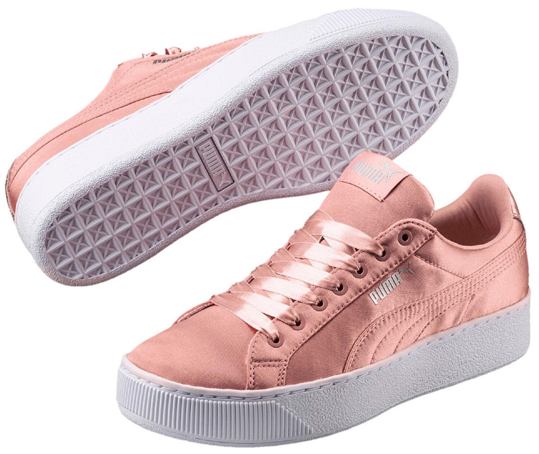 PUMA Vikky Platform Donna Donna Donna scarpe da ginnastica Scarpe da ginnastica 365239 001 Beige Peach NUOVO ac9fc4